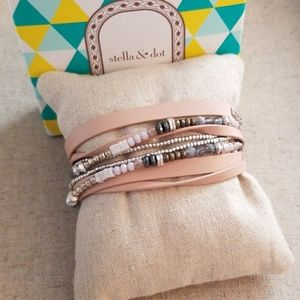 Yves Wrap Bracelet Blush